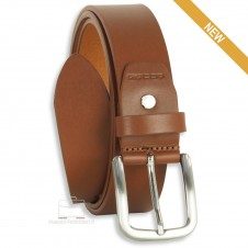 Belt in thick Leather 3,5cm Cognac/Brown