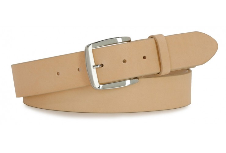 Belt in thick Leather 4cm - Tan