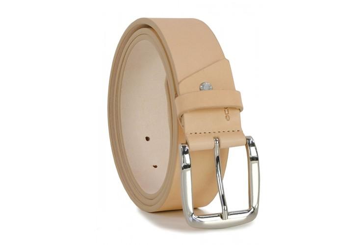 Cintura in Cuoio volanato liscio  4cm Cuoio Naturale