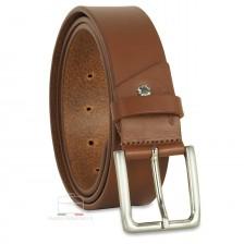 Cintura in Cuoio volanato liscio 4cm Cognac/Marrone