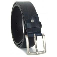 Cintura in Cuoio volanato morbido 4cm Blu