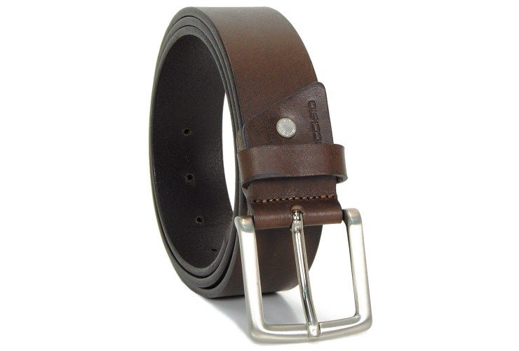 Belt in thick Leather 4cm - Brown