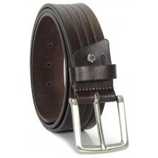 Cintura da Jeans in Cuoio morbido 4cm Marrone