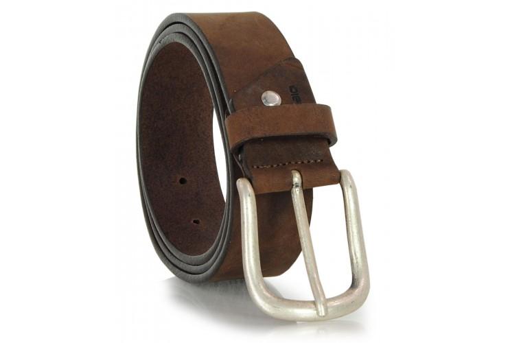 Cintura in Cuoio Nabuk morbido 4cm Marrone