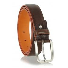 Cintura Marrone bordo e interno a contrasto Arancio