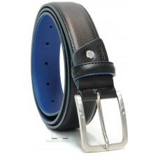Cintura Nera bordo e interno a contrasto Blu celeste