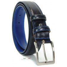 Cintura Blu uomo con interno a contrasto Celeste