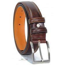 Cintura Marrone uomo con interno a contrasto Arancio