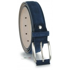 Belt in genuine suede leather Blue
