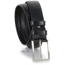 Cintura con cerniera Zip tasca segreta 3.5cm in pelle Nero