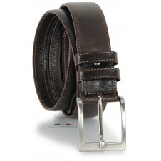 Belt with Zip secret money pocket 4cm Travelbelt in leather Brown