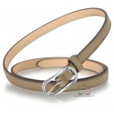 Cintura Donna sottile 1.5cm in pelle Grigio/Taupe