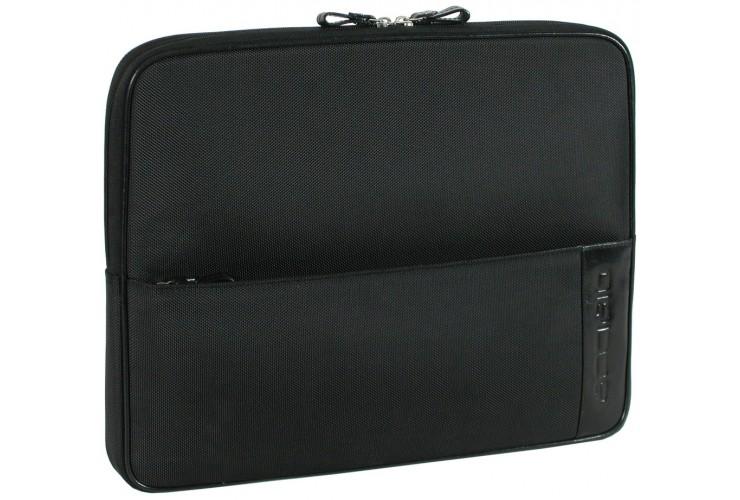 "Dokumentenmappe Laptop Mappe 16"", mit tragegriff, Leder/Technylon 39cm"