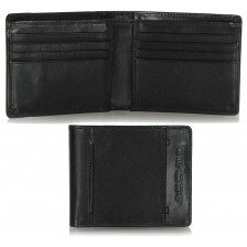 Portafoglio piccolo tascabile in pelle 8cc Nero