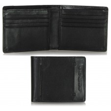 Men's pocket fashion leather wallet cards Black