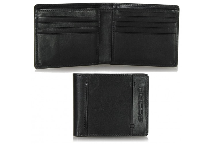 Men's pocket fashion leather wallet cards Black