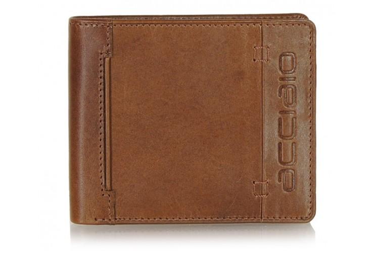 Men's pocket fashion leather wallet cards Cognac