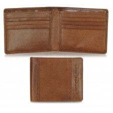 Men's pocket fashion leather wallet cards Cognac
