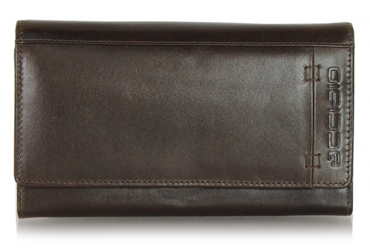 Women's fashion leather folding wallet  Brown