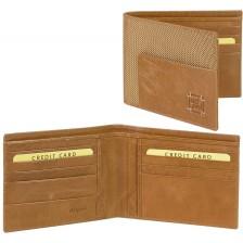 Herren Portmonee 8 kreditkartenfächer aus Leder/Technylon (ver.farben)
