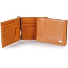 Man's wallet Vegetable leather spring clip cards Honey