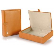 Svuotatasche porta oggetti scatola piccola in pelle Miele