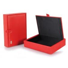 Svuotatasche porta oggetti scatola piccola in pelle Rosso