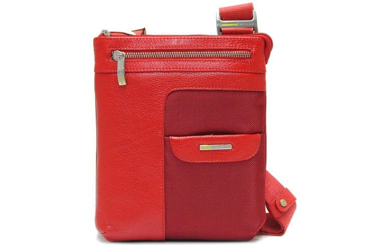 Crossbody bag 8'' multi pocket with exclusive design Red