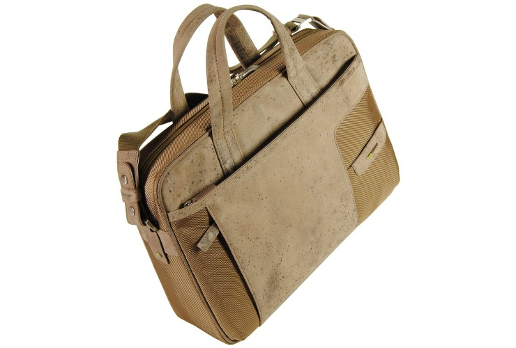 Laptop briefcase 15'' with two handle in vintage exclusive combination