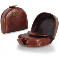 Coin purse with heel shape made by Vegetable leather Brown