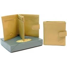 Portafoglio mini con portamonete, pelle Vacchetta Grano