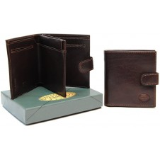 Portafoglio mini con portamonete, pelle Vacchetta Marrone