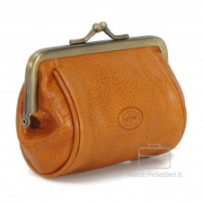 Women's Purse clutch made by Vegetable leather 10cm Honey