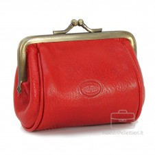 Women's Purse clutch made by Vegetable leather 10cm Red