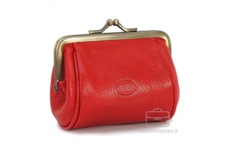 Clutch Geldbörse aus pflanzlich italienische vachetta leder 10cm Rot