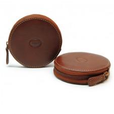 Portamonete con zip, pelle Toscana Vegetale Stradivari/Cognac