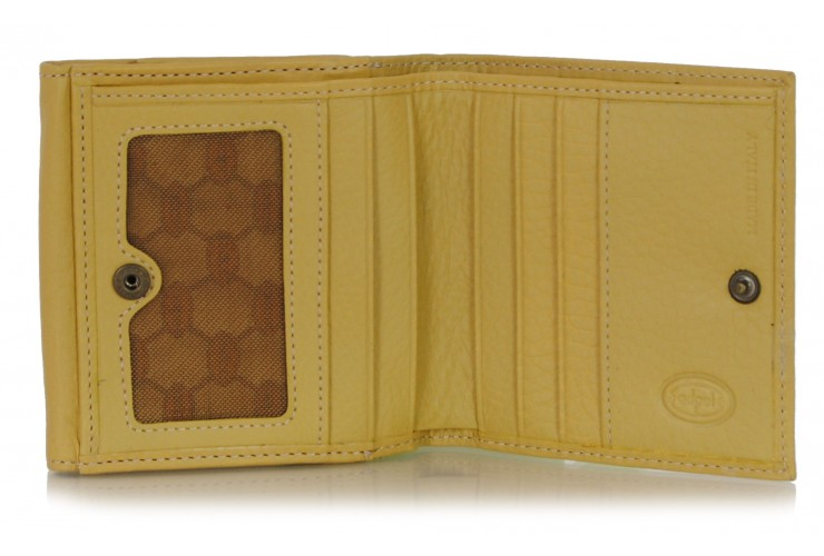 wallet with box coinpocket and 6 cards - Italian vegetable leather Beige