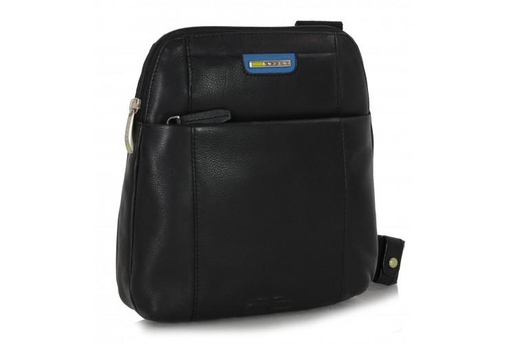 Shoulder bag in calf leather black