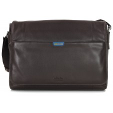 Borsa Messenger in Pelle morbida Marrone 15''