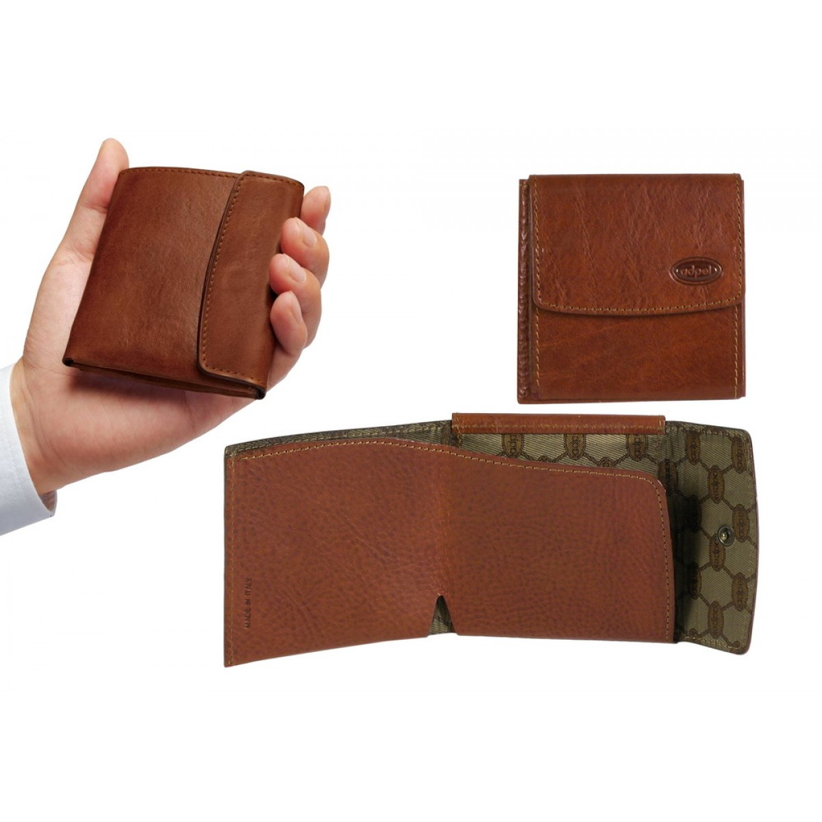 Portafoglio uomo minimalista con portamonete pelle for Portafoglio uomo