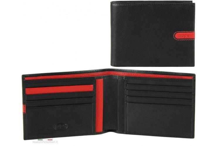 Soft man's stylish leather wallet 8cc Black