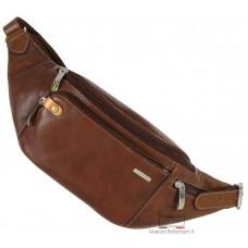 Marsupio in cuoio tasca Smartphone/iPhone 6.5'' Castagno/Marrone