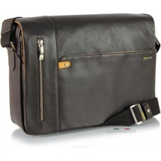 Borsa Messenger in Pelle morbida Marrone/Moka 13''