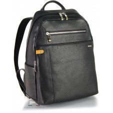 Leather Black Rucksack / Backpack for laptop up to 13'' 37cm