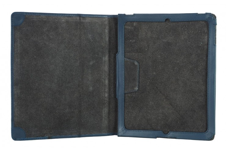 Cover for I pad in leather 9.7'' Blue