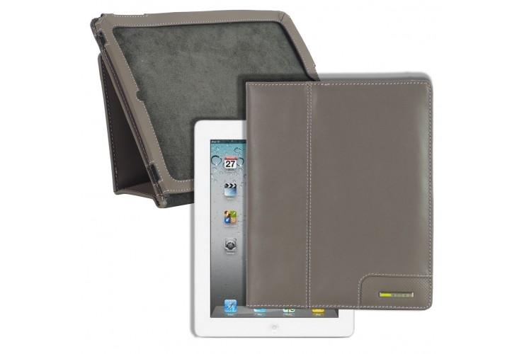 Cover for I pad in leather 9.7'' Gray