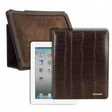 Porta I Pad 9.7'' in pelle di vitello Marrone