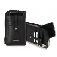 Portacellulare custodia iPhone 6.5'' in pelle Nero