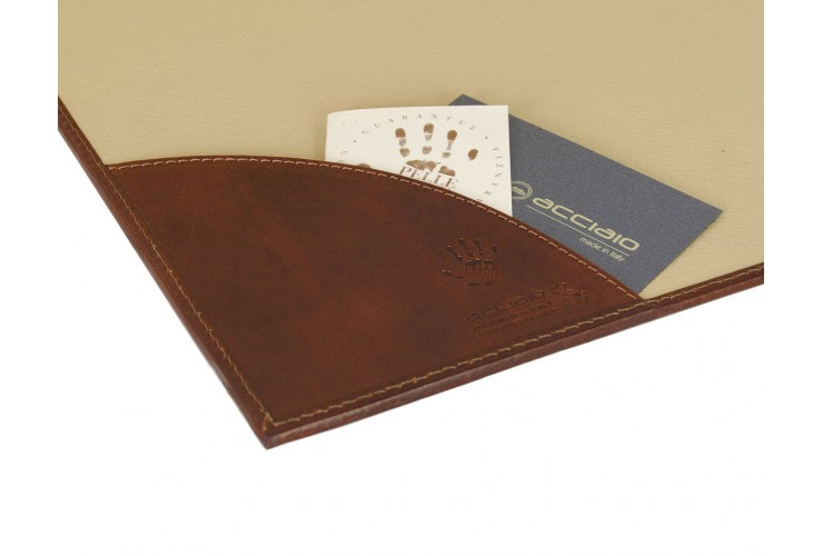 Schreibtischsets Leder kit 3 pflanzlich gegerbt leder Braun