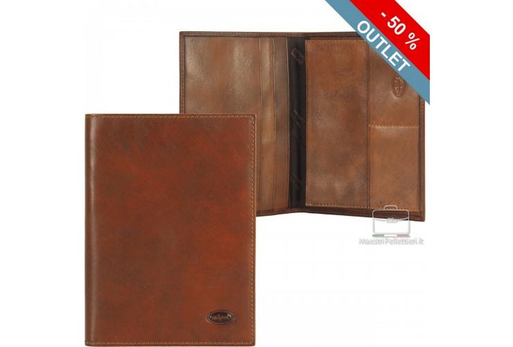 Car's document wallet folder - Italian vegetable leather 16.8 cm